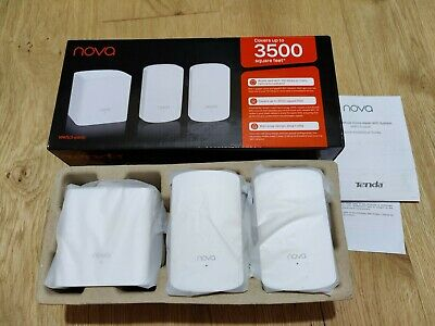 Tenda Nova MW5 AC1200 Whole Home Mesh Wi-Fi System, Pack Of 3 Boxed, Barely Used • 69.99£