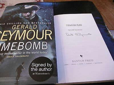 Timebomb By Gerald Seymour.  Hardback Signed • 5£