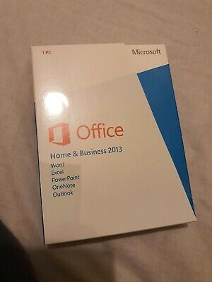 NEW SEALED Microsoft Office 2013 Home And Business, Full Retail Box, ENGLISH • 105.99£