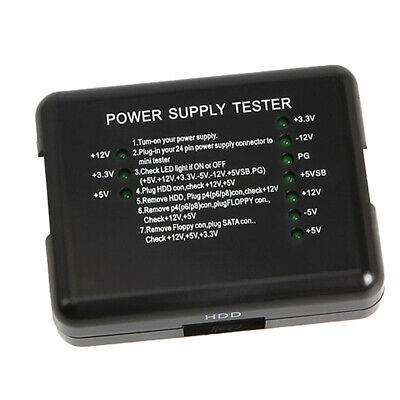 20 / 24-pin Power Supply Tester Computer Power Checker For ATX / SATA / HDD With • 4.99£