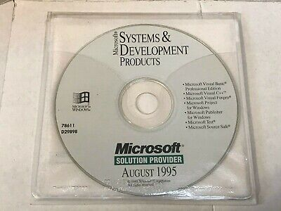 Microsoft Development Products Cd Visual C++ 2.1 Visual Basic Foxpro Project 95 • 39.99£