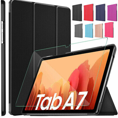 Tempered Glass & Smart Case Tablet Cover Samsung Galaxy Tab A7 10.4 T500/T505/07 • 8.95£