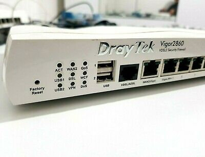 DrayTek Vigor 2860 VDSL2 Security Firewall WAN Router 6 Gigabit Ports AC Adapter • 49.99£
