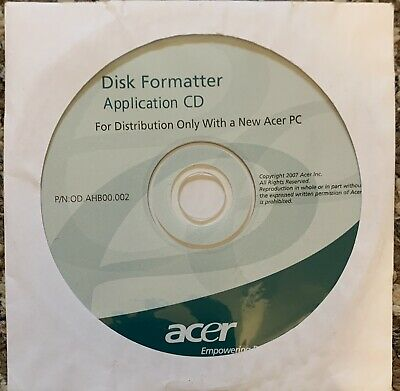 Acer Disk Formatter Application CD 2007 • 3£