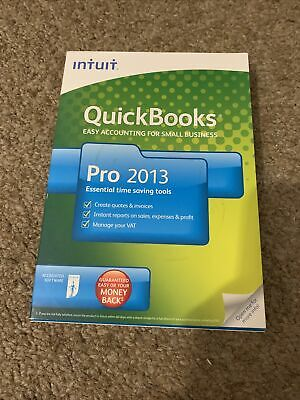 INTUIT QUICKBOOKS PRO 2013 FOR WINDOWS With Licence & Product Numbers • 80£