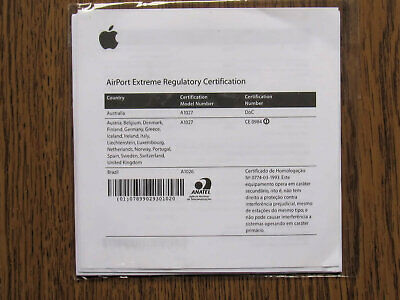 Apple Airport Extreme Software Installation Cd Version 4.1 2004 • 14£