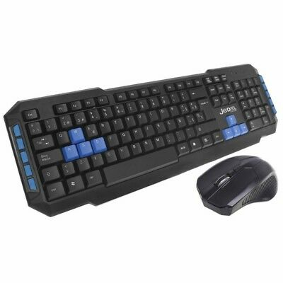 Jedel Wireless Gaming Keyboard And Optical Mouse Set UK Layout Black WS880 • 11.99£