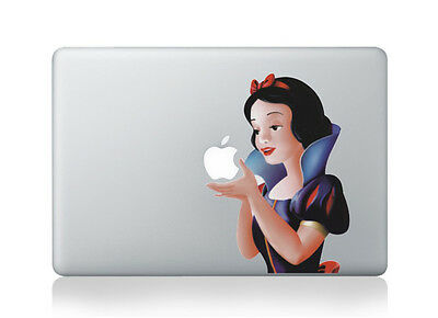 1x Snow White Macbook Air/Pro 15  Removable Vinyl Sticker Skin Decal Cover • 8.80£