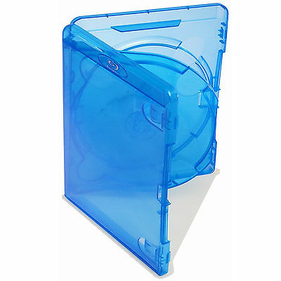 10 X Genuine Amaray Triple Blu Ray Case With Double Tray 14mm Spine - Pack Of 10 • 9.06£