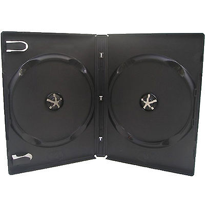 25 X CD DVD 14mm Black DVD Double Case For 2 Disc - Pack Of 25  • 9.89£