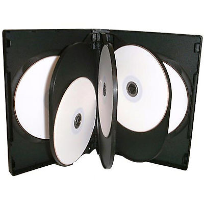 50 X CD DVD 27mm Black DVD 8 Way Case For 8 Disc - Pack Of 50 • 28.51£