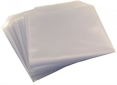 200 CD DVD DISC CLEAR COVER CASES PLASTIC 100 MICRON SLEEVE WALLET - 2 X 100 Pk • 5.70£