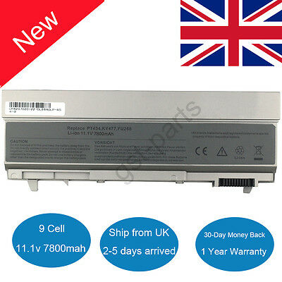 9 Cell Battery For DELL Latitude E6410 E6400 E6500 E6510 PT434 PT435 PT436 PT437 • 16.99£