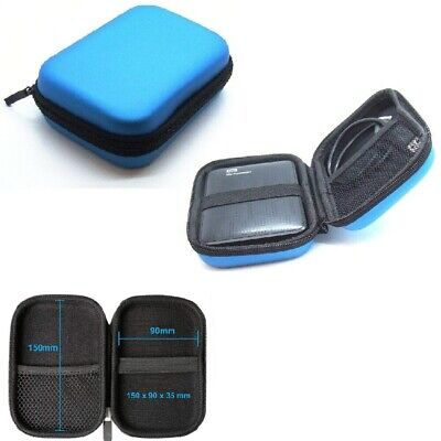 HDD External Enclosure Shockproof Hard Disk Drive Protect Storage Carrying Case • 2.99£