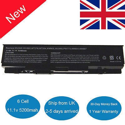 Laptop Battery For Dell Studio 1535 1536 1537 1555 1557 1558 WU946 PP33L PP39L • 15.99£