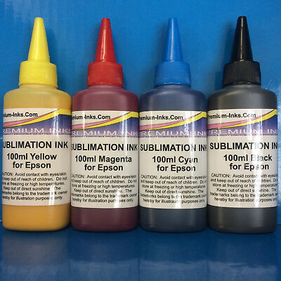 4x100ml Dye SUBLIMATION Ink For Epson Workforce Expression Photo Printer Non OEM • 21.99£