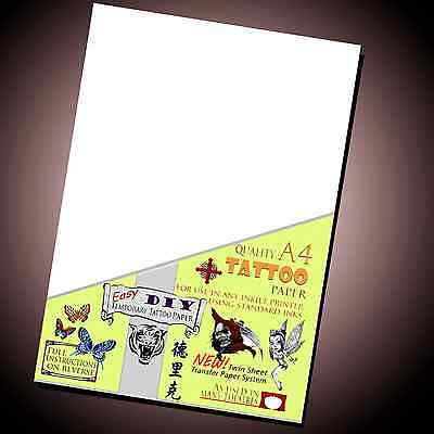 Temporary Tattoo Paper _ EBay Best Seller _ Inkjet Waterproof Transfer Paper Lot • 11.49£