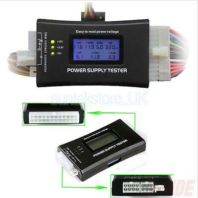 LCD Computer Engine Case Power Supply Tester 20/24 Pin 4 SATA HDD Testers • 8.04£