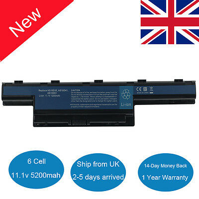 Laptop Battery For Acer Aspire 4551 4741 5741 7551 7560 5750 AS10D31 AS10D51 UK • 12.79£