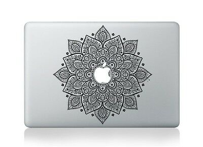 Macbook 13 Inch Decal Sticker Black Magic Flower Kaleidoscope For Apple Laptop • 9.50£