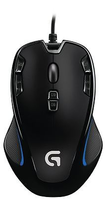 Logitech G300s 9 Button Black Backlit Optical Gaming Mouse Wired USB PC A • 24.90£