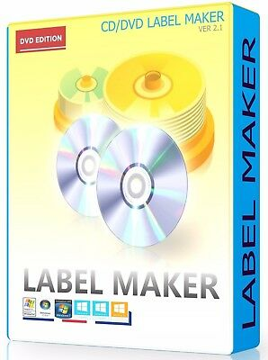 CD DVD Label Maker Creator Design And Print Disc Covers Labels PC Laptop • 6.29£