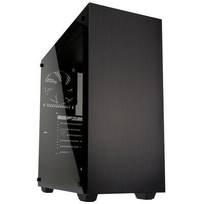 Kolink Stronghold ATX Mid Tower Tempered Glass Windowed Black Gaming PC Case • 43.95£