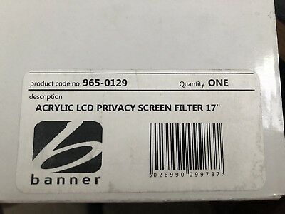 "17"" Acrylic LCD Privacy Screen Filter - Banner • 29.99£"