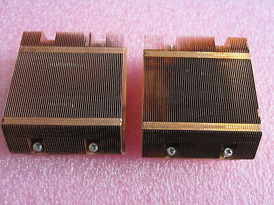 Pair Of Supermicro SNK-P0017 1U Low Profile Copper Heatsinks For LGA771 CPUs • 8.80£