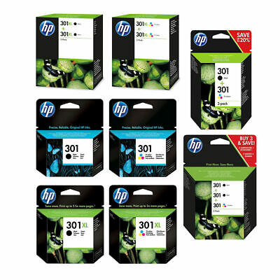 Original HP 301 / 301XL Black & Colour Ink Cartridge For DeskJet 1010 Printer • 19.95£