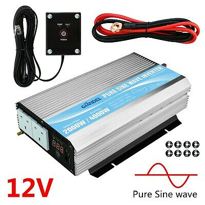 GIANDEL 2000W/4000W Pure Sine Wave Power Inverter 12V To 240V Camping Caravan • 248.96£
