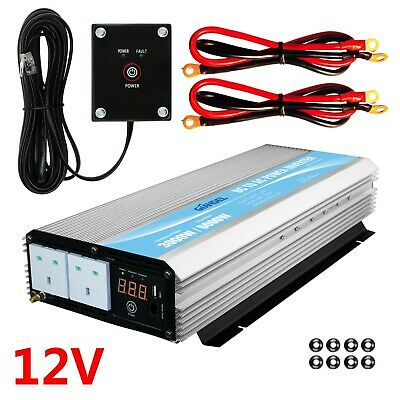 3000W/6000W Power Inverter 12V To 240V GIANDEL Car Converter With LED Display • 229.99£