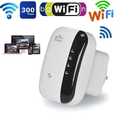 WiFi SIGNAL Range Booster Wireless Internet Network Extender Amplifier Repeater • 11.99£