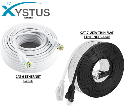 CAT6 RJ45 Ethernet Network High Speed LAN Patch Cable 1M To 50M Wholesale WHITE • 9.99£