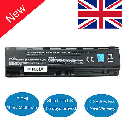 PA5024U-1BRS Battery For Toshiba Satellite C850 C850D C855 C870 L850 L855 L870 • 12.79£