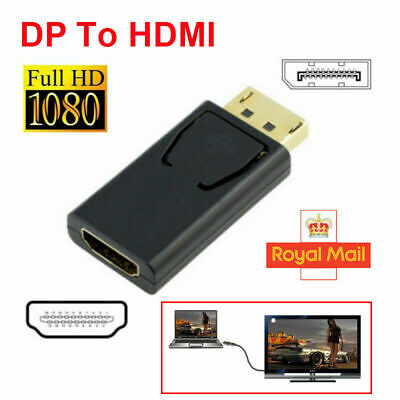 Display Port DP Male To HDMI Female Flat Adapter Connector Converter For  PC • 3.49£
