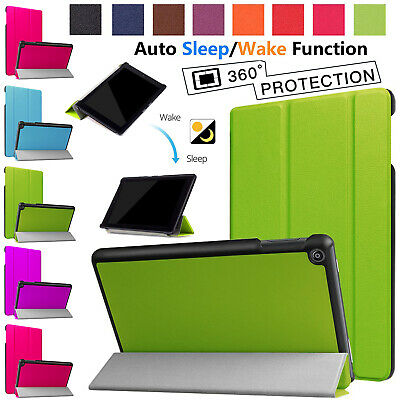 Leather Smart Protective Magnetic Case Cover For Amazon Kindle Fire 7 Inch 2017 • 5.44£