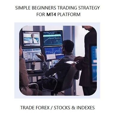 Forex Trading Strategy Simple Beginners MT4 System Template Indicator Trade FX • 24.98£