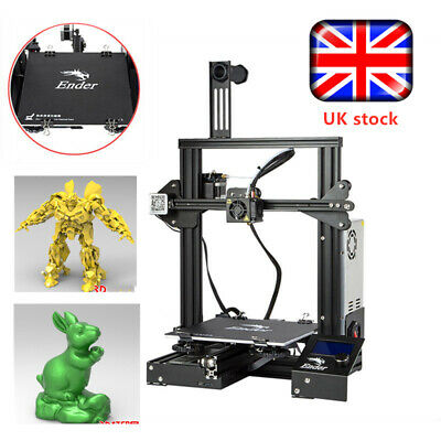 New Version Creality Ender 3 3D Printer 220X220X250mm 1.75mm PLA DC 24V UK Stock • 199.99£