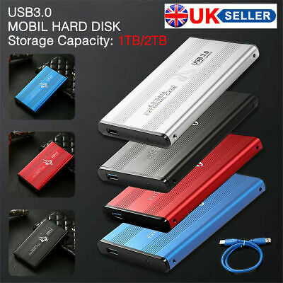 USB 3.0 2TB 1TB External Hard Drive Disks HDD 2.5'' Fit For PC Laptop Portable • 26.99£