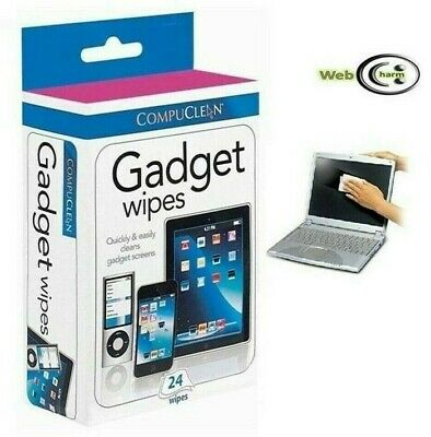 Gadget Wipes 24 X Touch Screen Phone Laptop Tablet Lens Camera Computer • 2.95£