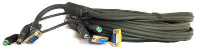 Belkin Omniview Pro2 PS/2 Series KVM Cable 4.5m & LP Gender Changer, HDDB15 M/M • 11.99£