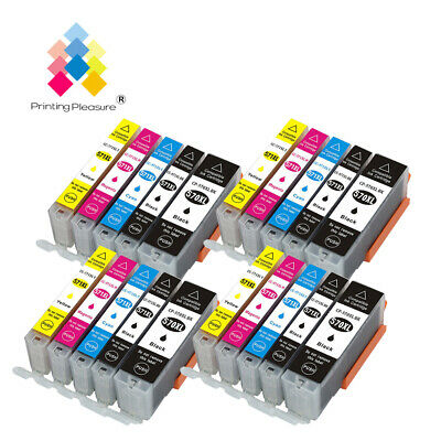 20 Ink Cartridge PP  For Canon Pixma MG5750 MG5751 MG5752 MG5753 MG6850 PGI570XL • 18.14£