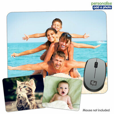 Personalised Any PHOTO / LOGO Mouse Mat Pad PC Computer Laptop Mac Gift Gaming • 4.95£