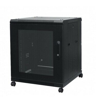 12U 19  Floor Standing Assembled Data Cabinet Server Rack Data C/w Castors Lot • 299£