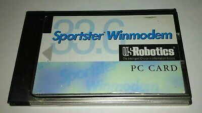 Sportster Winmodem By US Robotics PC Card With Cable UK Seller • 3.99£