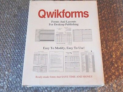 Amiga Quickforms 1.0 Forms And Layouts For Pagestream Desktop Publishing Dtp • 6.87£