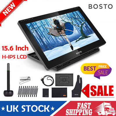 BOSTO 15.6 Inch Artist Graphics LCD Drawing Tablet Monitor Board With Stylus Pen • 158.09£