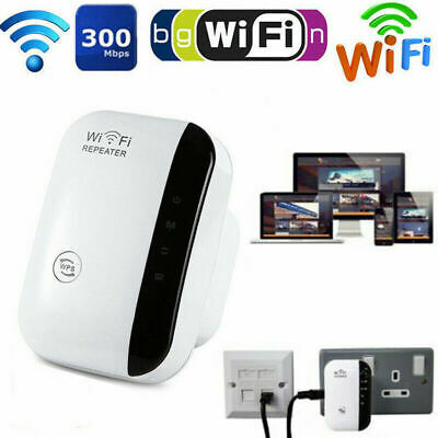 300Mbps WiFi Range Extender Super Booster Superboost Speed Wireless Repeater UK • 11.99£