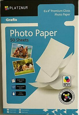 6 X4  Premium Gloss Photo Paper 50 Sheets 220gsm For All Inkjet Printers • 2.99£